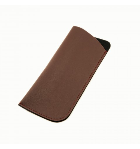 LEATHER BROWN POUCH